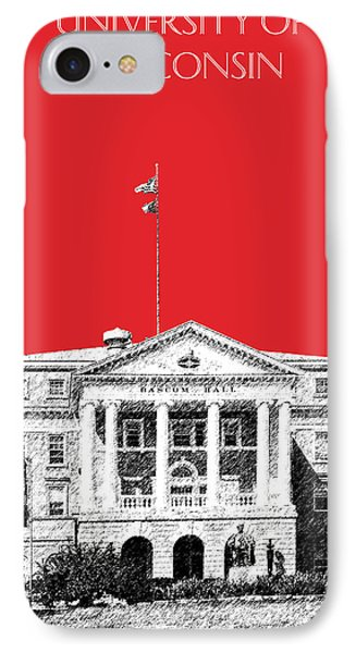 University Of Wisconsin - Red IPhone Case by DB Artist