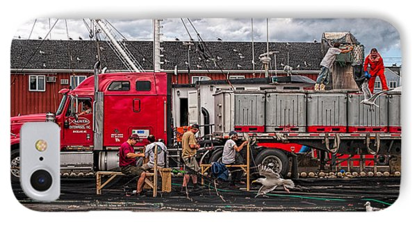Unloading Fish And Mending Nets Phone Case by Bob Orsillo
