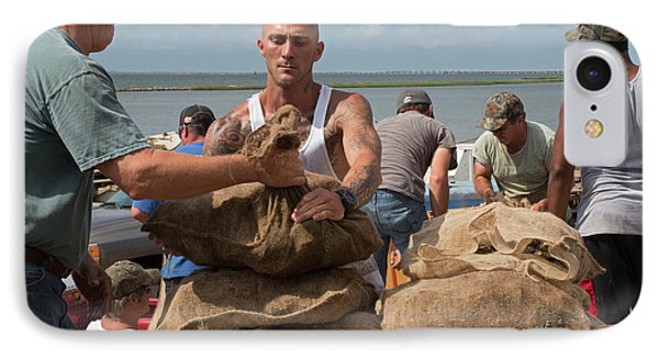 Unloading Harvested Oysters IPhone Case by Jim West