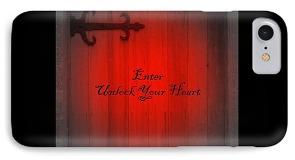 Unlock Your Heart IPhone Case by Linda Prewer