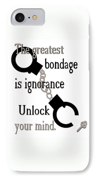 Unlock Your Mind IPhone Case by Pharris Art