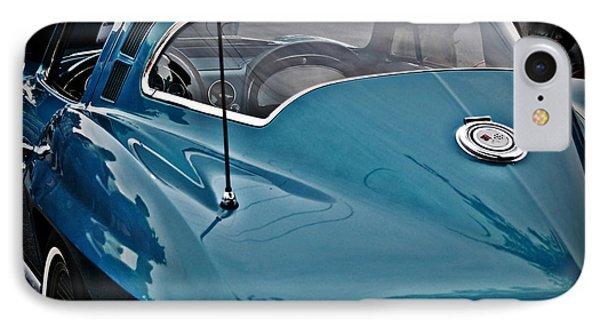 Unmistakeable Tail 65 Corvette Stingray Phone Case by JW Hanley