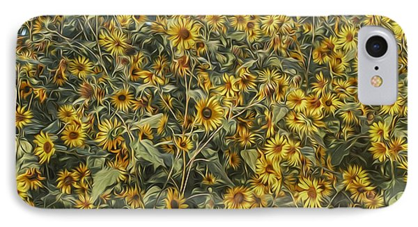 Untamed Sunflowers IPhone Case by Jeff Swanson