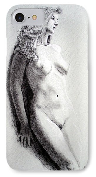 IPhone Case featuring the painting Untitled Nude by Joseph Ogle