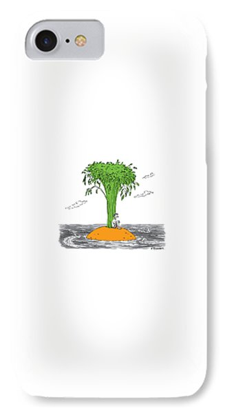 Carrot iPhone 7 Case - New Yorker January 16th, 2017 by Pat Byrnes