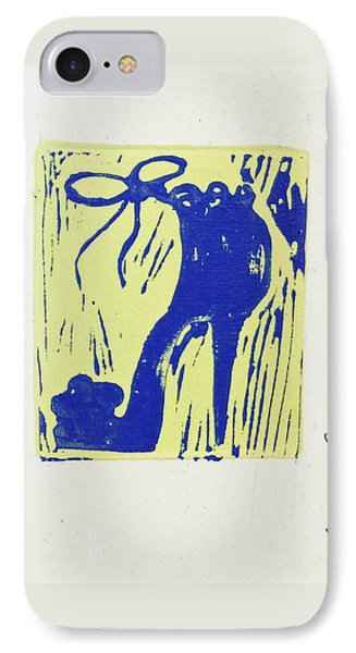 Untitled Shoe Print In Blue And Green Phone Case by Lauren Luna