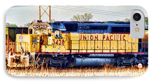 Up 3428 Rcl Locomotive In Color IPhone Case by Bill Kesler