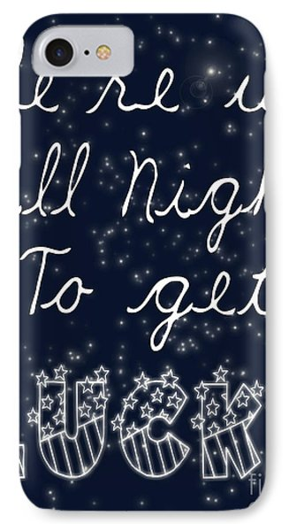Up All Night IPhone Case