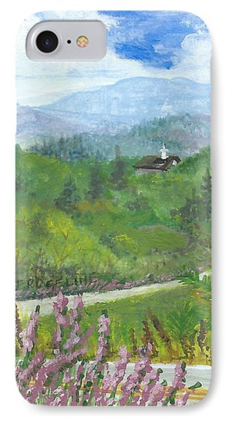 Up In The Mountains IPhone Case by Christina Verdgeline