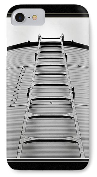 Up The Silo We Go IPhone Case by Charles Feagans