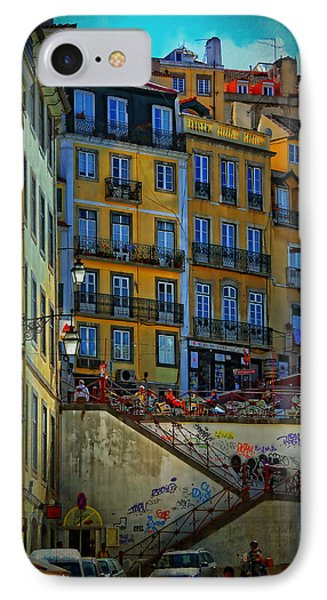 Up The Stairs - Lisbon IPhone Case