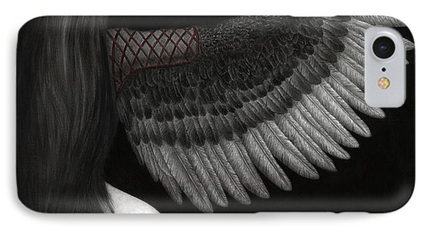 IPhone Case featuring the painting Upon Ashen Wings by Pat Erickson