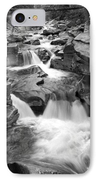 Upper Ammonoosuc Falls Black And White Phone Case by Brett Pelletier