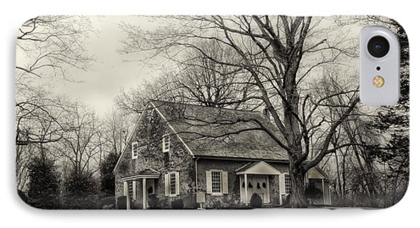 Upper Dublin Meetinghouse In Sepia IPhone Case by Bill Cannon