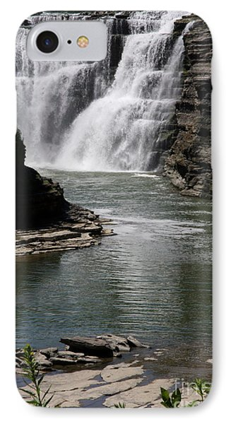 Upper Falls Letchworth State Park IPhone Case by Christiane Schulze Art And Photography