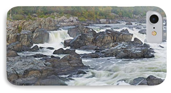 Upper Great Falls Panorama Phone Case by Benjamin Reed