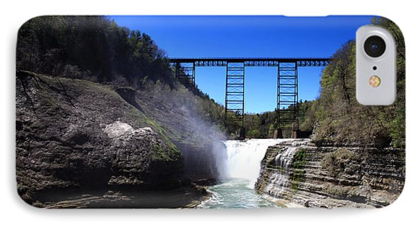 Upper Waterfalls In Letchworth State Park Phone Case by Paul Ge
