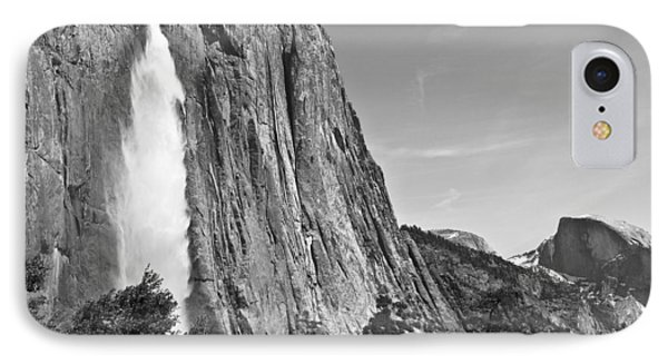 Upper Yosemite Fall With Half Dome IPhone Case by Shane Kelly