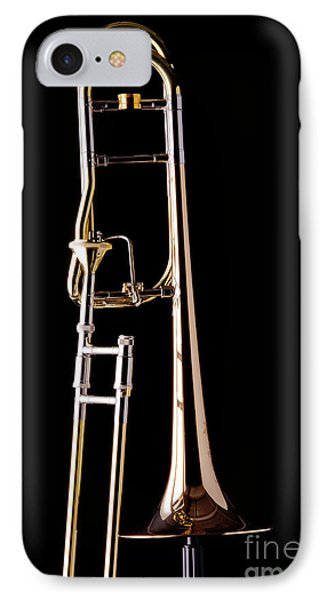 Upright Rotor Tenor Trombone On Black In Color 3465.02 IPhone Case