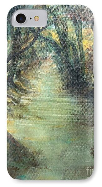 IPhone Case featuring the painting Upstream by Mary Lynne Powers