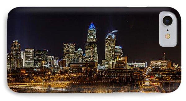 Uptown Charlotte Panorama IPhone Case