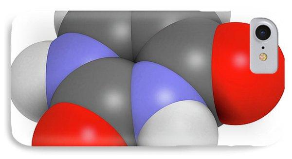Uracil Nucleobase Molecule IPhone Case by Molekuul