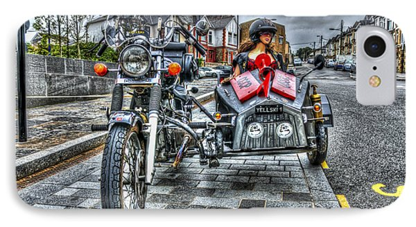 Ural Wolf 750 And Sidecar IPhone Case by Steve Purnell