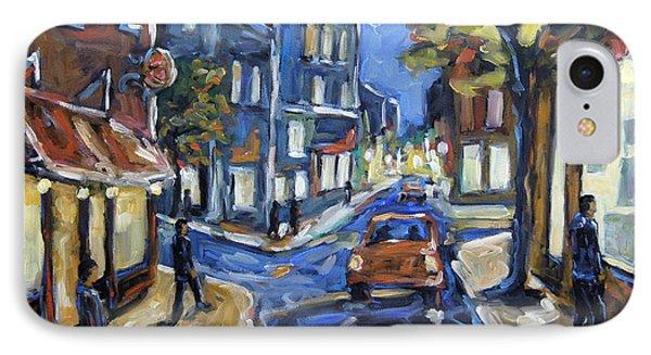 Urban Avenue By Prankearts IPhone Case by Richard T Pranke
