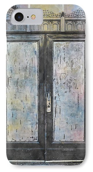 IPhone Case featuring the photograph Urban Bank Doorway by John Fish