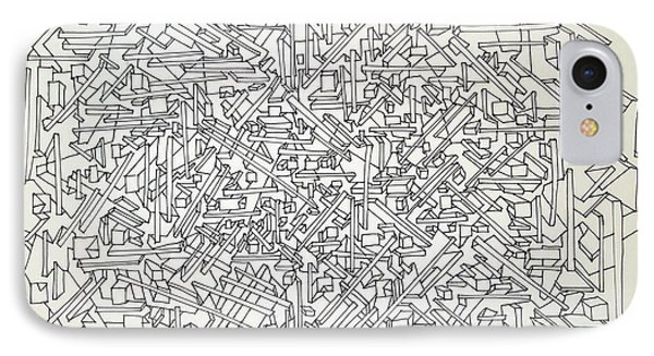 IPhone Case featuring the drawing Urban Planning by Nancy Kane Chapman