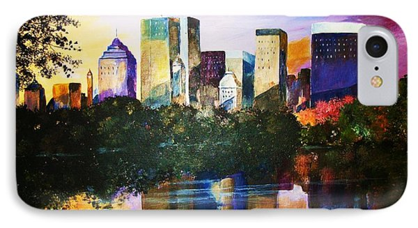 IPhone Case featuring the painting Urban Reflections by Al Brown