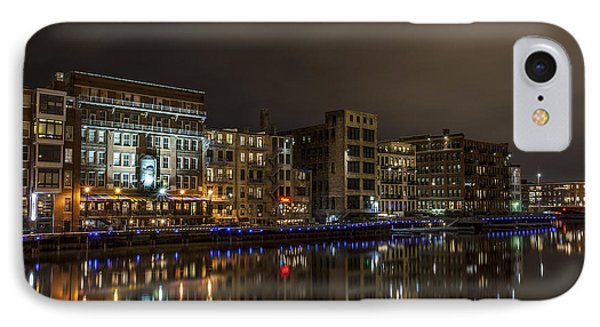 Urban River Reflected IPhone Case by CJ Schmit