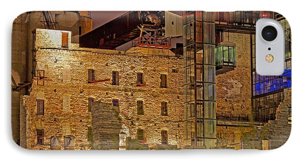 Urban Ruins At Night IPhone Case by Kate Purdy