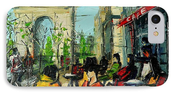Urban Story - Champs Elysees IPhone Case by Mona Edulesco