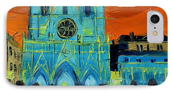 Urban Story - The Festival Of Lights In Lyon IPhone Case by Mona Edulesco
