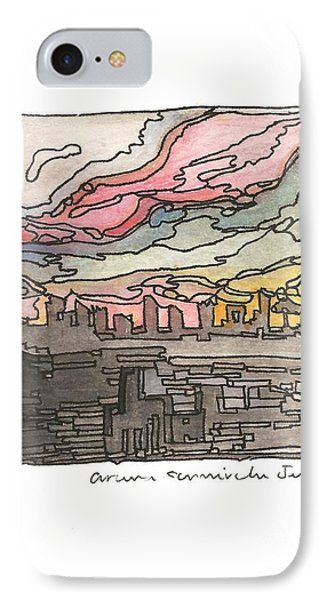 Urban Sunset Phone Case by Aruna Samivelu