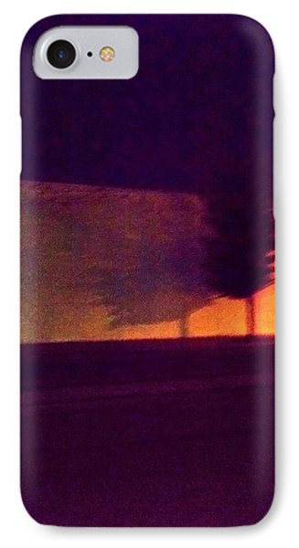 IPhone Case featuring the photograph Urban Tree At Night by Carolyn Repka