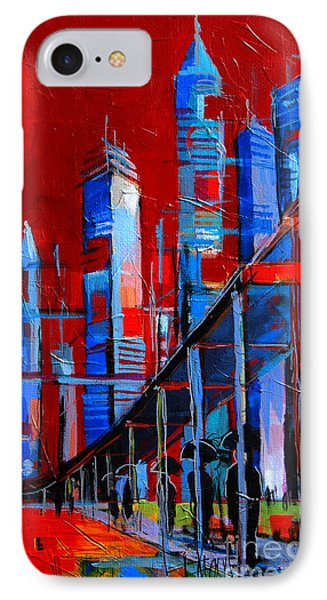 Urban Vision - City Of The Future IPhone Case by Mona Edulesco