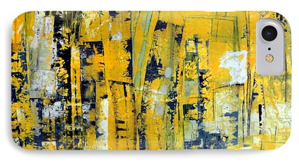Urban Yellow IPhone Case by Katie Black