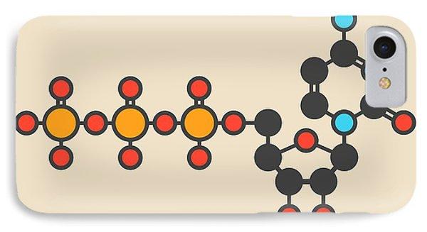 Uridine Triphosphate Molecule IPhone Case by Molekuul