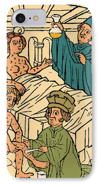 Uroscopy Patients With Syphilis 1497 Phone Case by Science Source