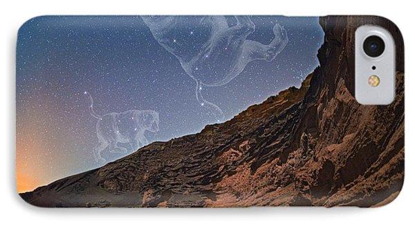 Ursae Constellations Over Volcanic Lagoon IPhone Case by Juan Carlos Casado (starryearth.com)