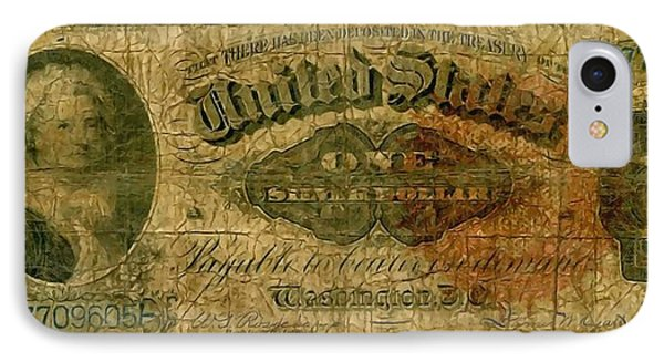 U.s. 1886 One Dollar Silver Certificate  IPhone Case
