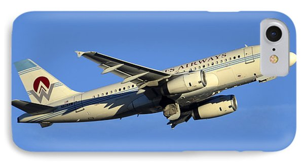 Us Airways Airbus A319-132 N828aw America West Legacy Phoenix Sky Harbor December 24 2014  Phone Case by Brian Lockett
