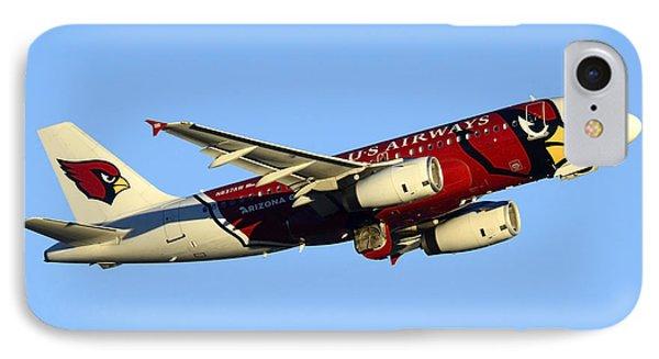 Us Airways Airbus A319-132 N837aw Arizona Cardinals Phoenix Sky Harbor December 24 2014  Phone Case by Brian Lockett