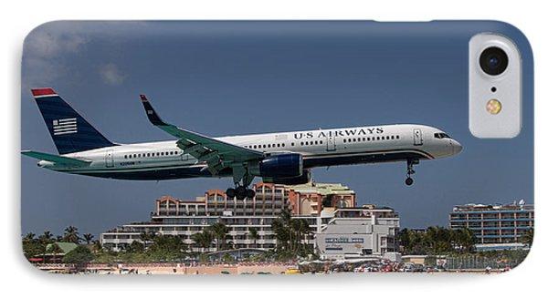 U S Airways At St Maarten IPhone Case by David Gleeson