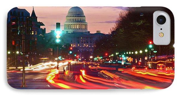 Us Capitol Building At Dusk IPhone Case