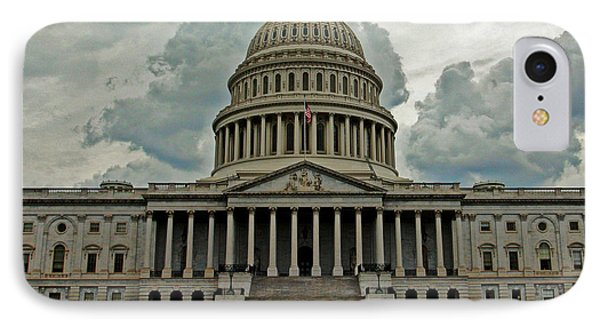 IPhone Case featuring the photograph U.s. Capitol Building by Suzanne Stout