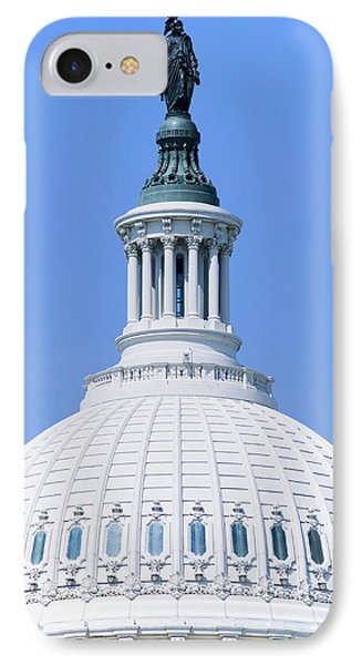 U.s. Capitol Dome And Statue Of Freedom IPhone Case