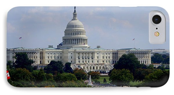 IPhone Case featuring the photograph Us Capitol by Lois Lepisto